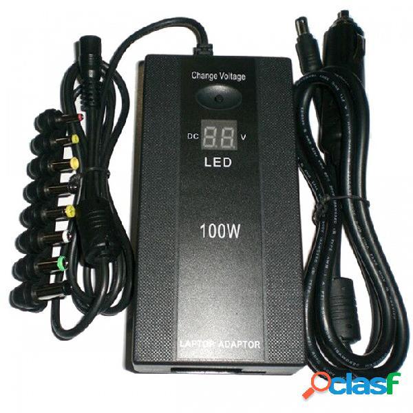 Cargador dual de la energía del coche del hogar del adaptador de la potencia del ordenador portátil de la exhibición de 100w led