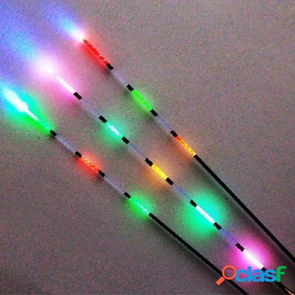 Flotador de pesca electrónica led + batería de visión nocturna luz flotante eléctrica batería aparejos de pesca luminoso flotador electrónico 3 unids 3 unids