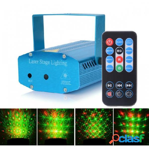 Hml doce patrones 50mw verde + 100 mw láser rojo proyector de iluminación de escenario con 18 teclas rc / trípode