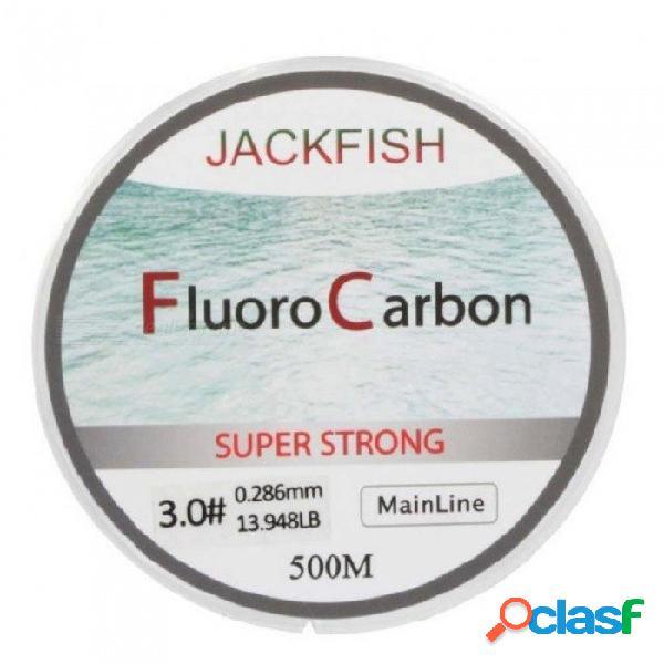 Línea de pesca de fluorocarbono 5-32lb prueba de fibra de carbono línea líder 0.165-0.46 mm línea de pesca con mosca 500 metros línea principal