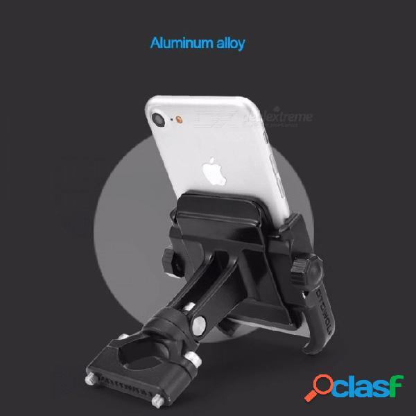 MOTOWOLF soporte de teléfono universal de la motocicleta de la aleación de aluminio, soporte del teléfono moto para manillar de bicicleta GPS - negro negro