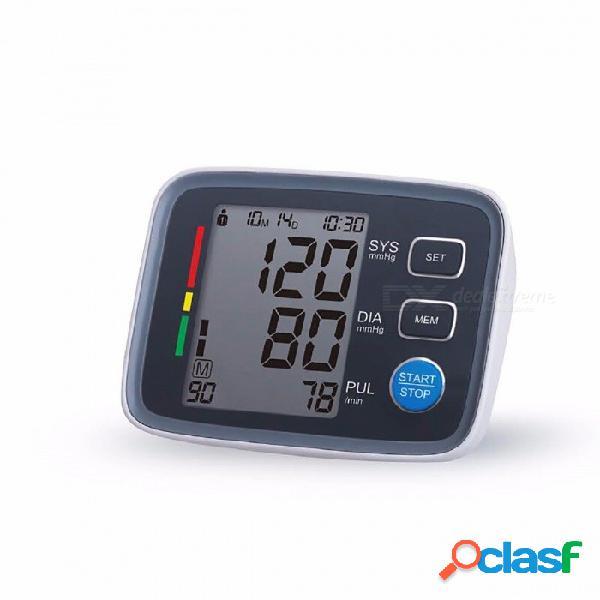 Pantalla lcd grande monitor de presión arterial digital, tonómetro esfigmomanómetro pulsometros monitor de salud para corazón gris sangre