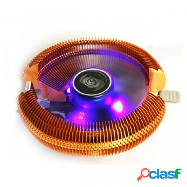 Silenciar el disipador térmico del refrigerador de la cpu, el ventilador de enfriamiento de la pc rediator para intel lga775 / lga1155 / lga1156 / lga1150, amd 754 / am2 / am2 + / am3 dorado