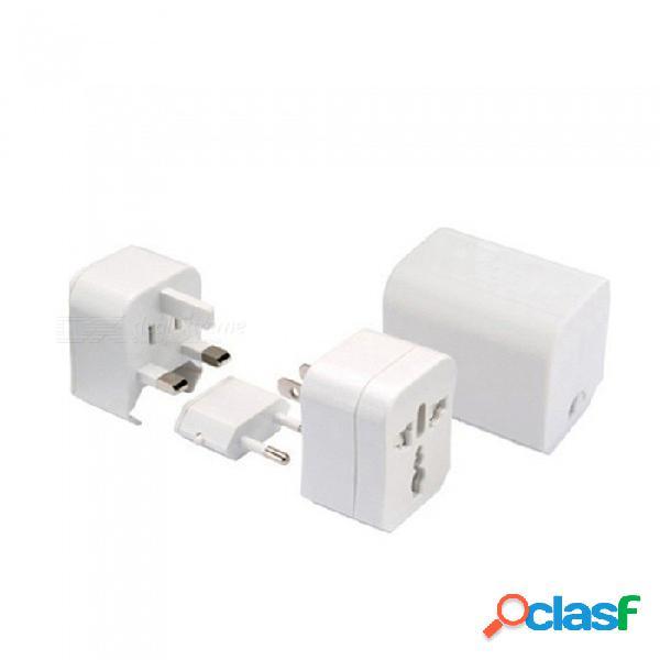 Usb multifuncional universal de viaje internacional internacional adaptador de enchufe enchufe eléctrico conversión conversión enchufes universal / blanco