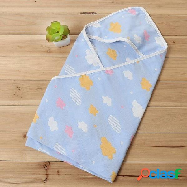 Verano infantil bebé toalla de baño recién nacido llano mantas toallas toalla de algodón de dibujos animados