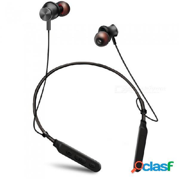 Auricular bluetooth inalámbrico magnético de deportes, tipo de cuello de gancho de metal a prueba de agua auriculares intrauditivos de oído rojo
