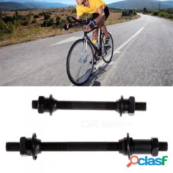 Bicicleta de montaña accesorios para bicicletas de liberación rápida ejes traseros delanteros hueco eje eje palanca color negro disponible