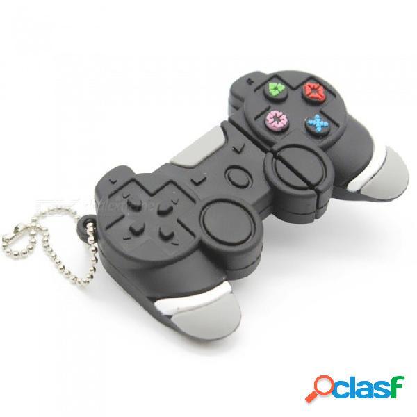 Consola de juegos creativa estilo usb 2.0 unidad flash mini portátil de memoria flash de silicona con llavero 8 gb / gris