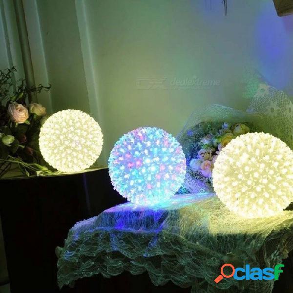 Dia 12 cm 50 led flores de cerezo flor de melocotón cadena luces navideñas de hadas iluminación de navidad ac 220 v sakura guirnalda decoración rgb / 0-5w