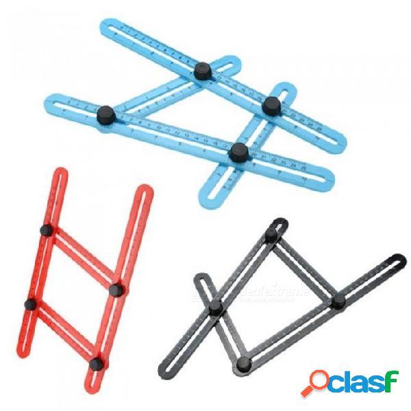 Medida herramienta de plantilla de regla de múltiples ángulos 4 colores ángulo mide todas las formas de ángulos ángulo-izer para artesanos constructores artesanos