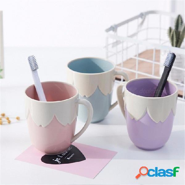 Vasos de baño de plástico creativo ecológico taza de enjuague de plástico para niños taza de cepillo de dientes accesorios de baño ciruela