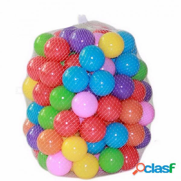 100 unids / lote ecológico colorido suave de plástico piscina de agua ocean wave stress air ball, juguetes divertidos del bebé para diversión al aire libre deportes de colores