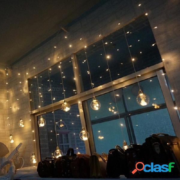 2.5m led bola de cristal de deseo bola de hadas luz de la cortina de interior al aire libre fiesta de navidad festival de jardín decoración luces azules / 0-5 w