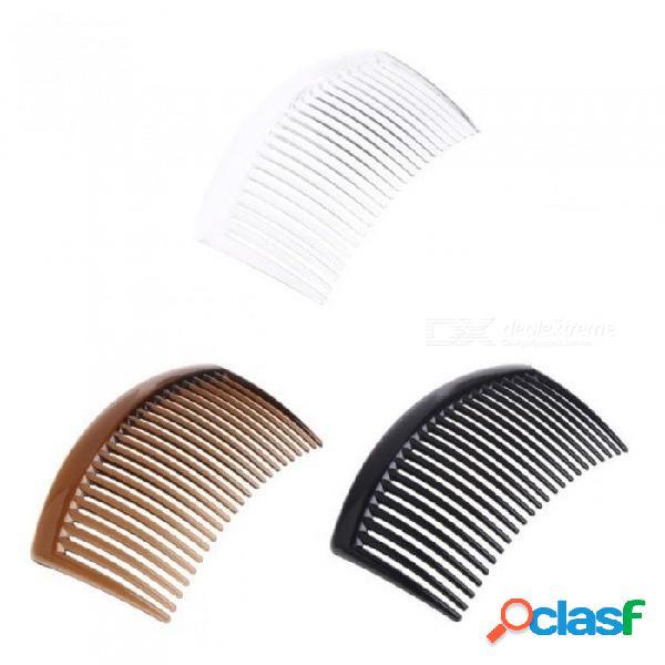 5 unids cada conjuntos hechos a mano 23 dientes de material plástico headwear accesorios para el cabello adecuado para mujeres diy clips blanco