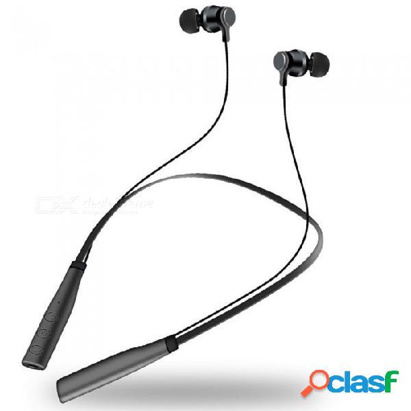 Auricular inalámbrico tipo bluetooth magnético tipo gancho para el cuello l3 para deportes, ejercicio, compatible con tarjeta tf, blanco
