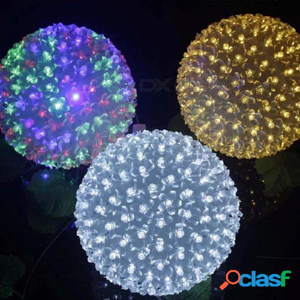 Dia 12 cm led flor de cerezo flor de melocotón luces de la lámpara de la bola ac 220 v fiesta de bodas de navidad de navidad luces de cadena rgb / 0-5w