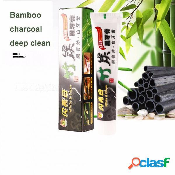 Pasta dental de carbón de bambú para blanquear la pasta dental de higiene oral de carbón negro 100 g