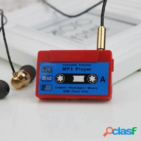 Cinta magnética compatible con reproductor de mp3 micro 32g tarjeta sd tarjeta tf reproductor de medios de música conector de 3.5 mm de varios colores disponible otro
