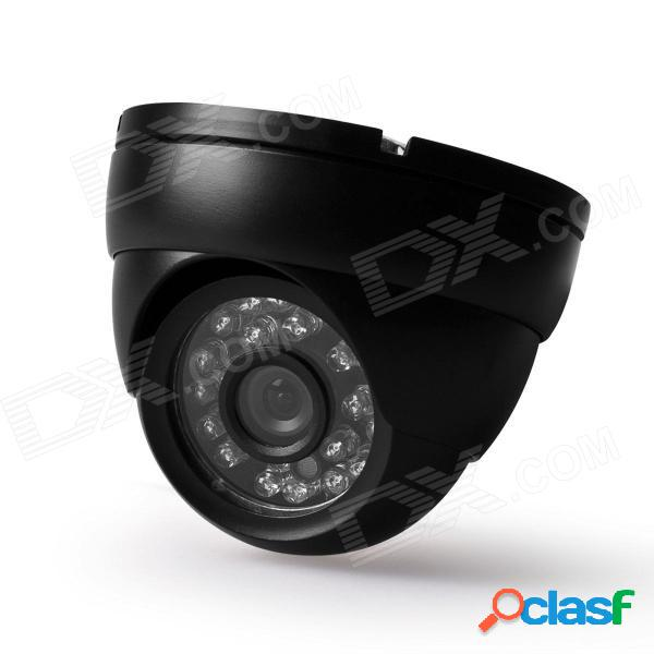 "Digital 420tvl 1/4"" cámara de domo de seguridad de video vigilancia impermeable ccd w / 24-ir led - negro"