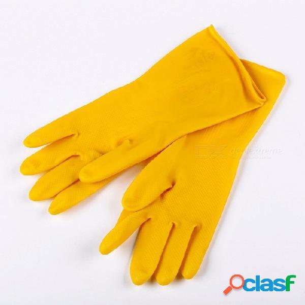 Guantes multifuncionales guantes de lavado de autos de goma blanda guantes de lavado a prueba de agua guantes de lavado de autos guantes de lavado s / amarillo