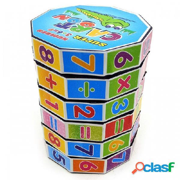 Juguete del cubo del rubik del iq de la magia de la inteligencia de las matemáticas del preescolar para los cabritos