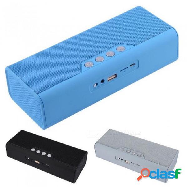 Altavoz bluetooth portátil con radio fm reproductor de música inalámbrico cargador de teléfono aux line-in soporte usb flash drive tf tarjeta negro / altavoz