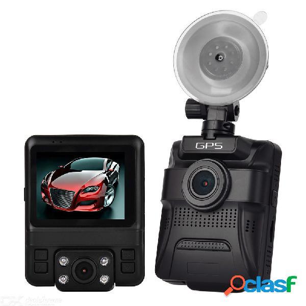 Enklov gs65h original mini lente de doble coche dvr 2.4quot novatek 96655 cámara de coche 1920x1080p full hd dash cam visión nocturna g-sensor