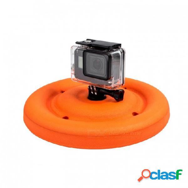 Ismartdigi i465 deportes al aire libre a prueba de agua flotante frisbee para gopro hero 2 3 3+ 4 sesión 5 6 sj4000 - naranja