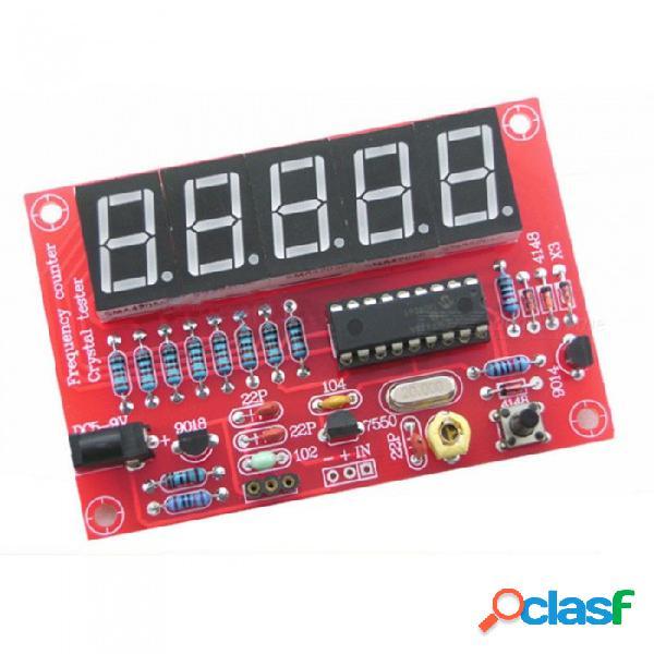 Zhaoyao 1 hz-50 mhz pcb contador de frecuencia tester cristal oscilador de medición de frecuencia de cinco pantalla digital kit de bricolaje