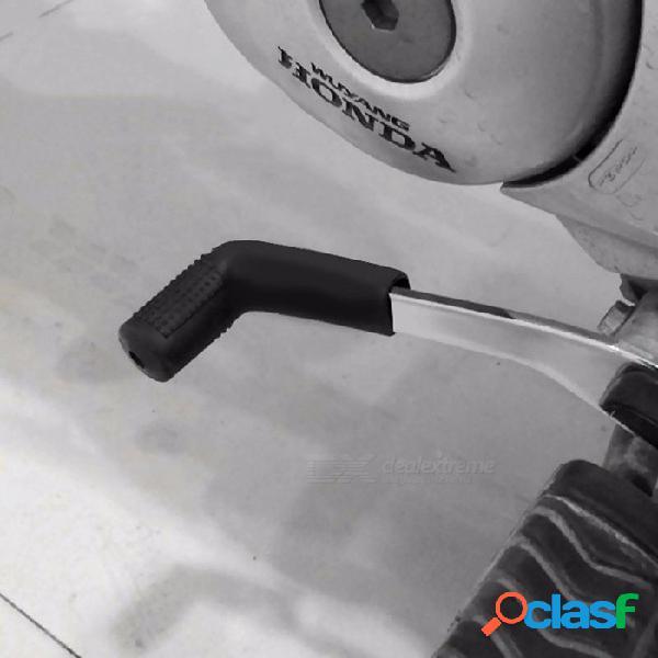 Cubierta universal de la palanca de cambios de los engranajes de la motocicleta, zapato de la bota de la palanca de cambios del calcetín de goma engrosada, protector de la caja de cambios neg
