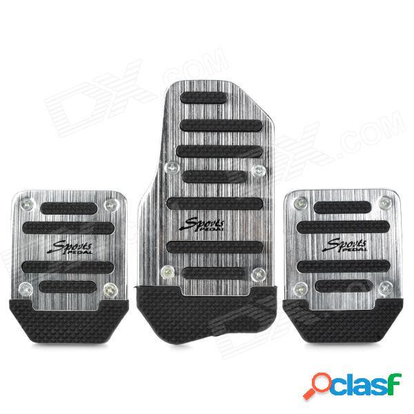 Freno de cambio manual de coche / acelerador / pedal de aleación de aluminio antideslizante - plata + negro