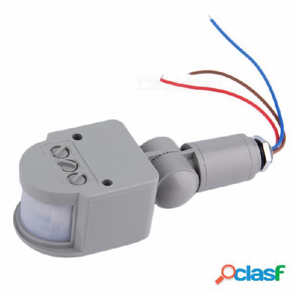 Interruptor automático del sensor de movimiento de la ca 220v para el sensor de movimiento pir infrarrojo al aire libre del interruptor de la luz led