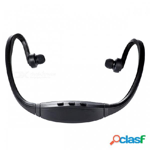 Ojade deportes al aire libre gimnasio mini plástico inalámbrico banda para el cuello en la oreja auriculares con micrófono