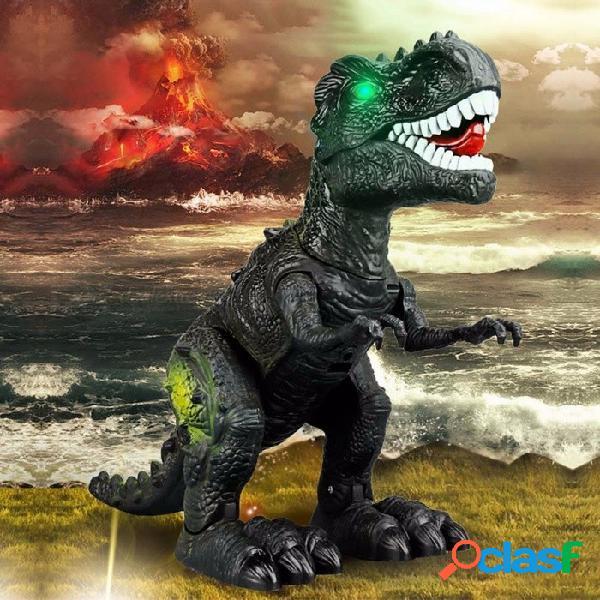 Simulación mascotas para niños regalo de vacaciones dinosaurio paseo juguetes sonido tiranosaurio eléctrico rex juguetes color aleatorio otros
