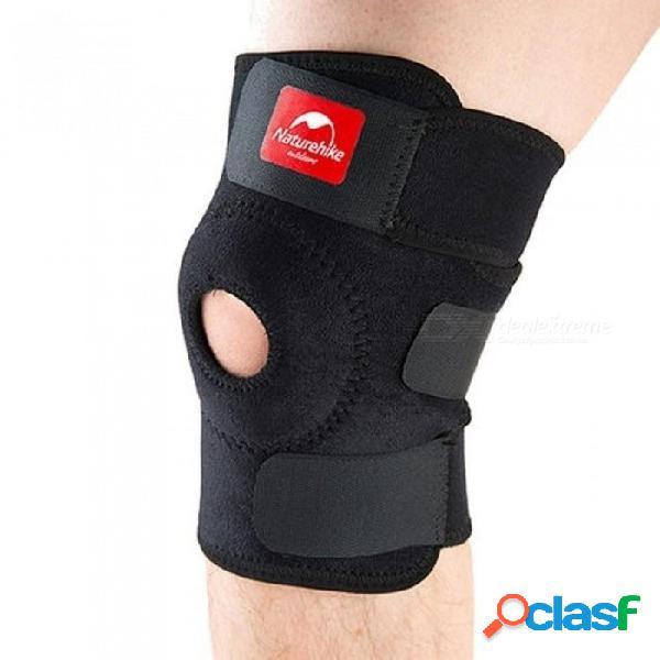 Soporte de rodilla elástico ajustable rodillera rodillera rótula rodillas deportes rodillera protector correa de seguridad para correr negro