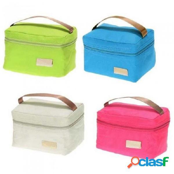 Viaje oxford papel de aluminio con aislamiento térmico más fresco bolsa de picnic, bolsa de almuerzo de asas impermeable para niños adultos