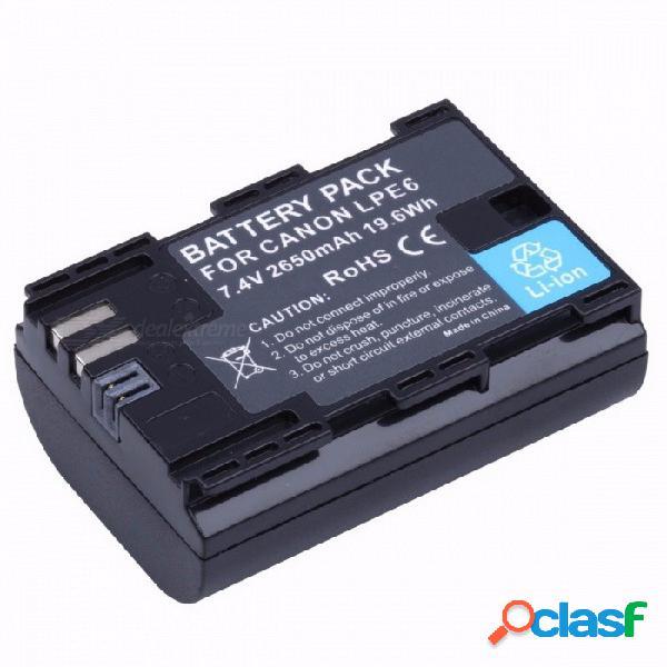 Probty lp-e6 lp e6 lp-e6n batería de la cámara 2650mah para canon eos 5ds 5d marca ii marca iii 6d 7d 60d 60da 70d 80d dslr eos 5dsr negro