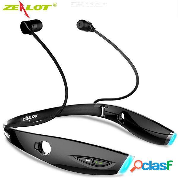 Zealot h1 deporte auriculares inalámbricos bluetooth auriculares a prueba de sudor auriculares plegables con micrófono