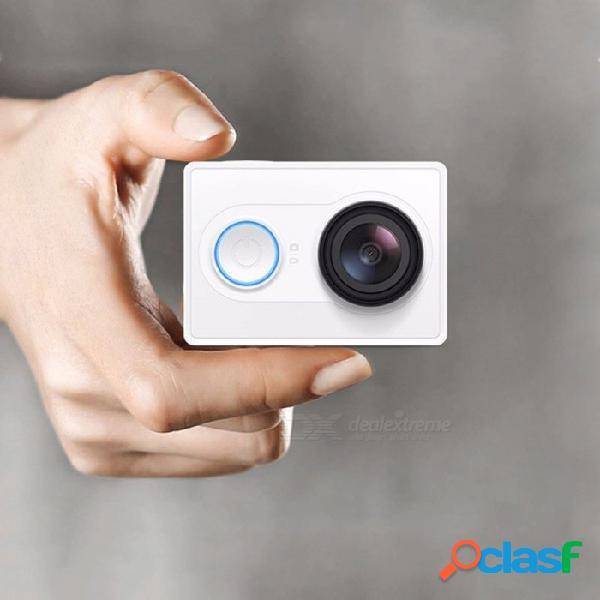 Cámara de acción yi, 1080p 16mp full hd, mini ángulo gran angular, mini cámara dv blanco para deportes