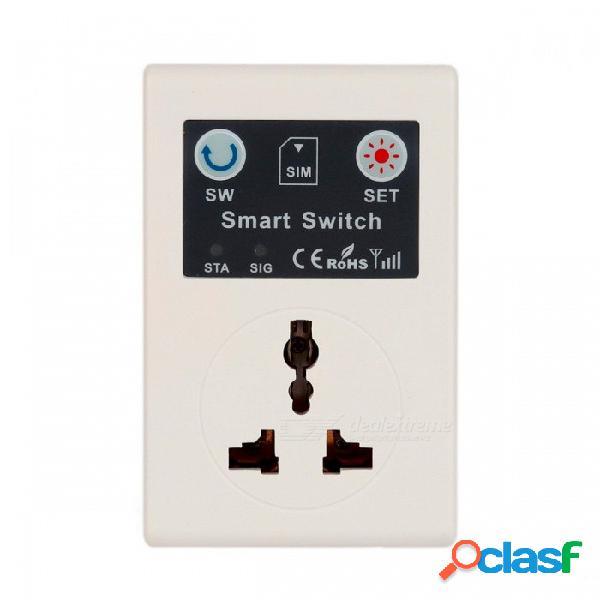 Control remoto inalámbrico del control remoto inalámbrico del teléfono de la ue 220v, enchufe de poder del zócalo del g / m para el aparato electrodoméstico blanco