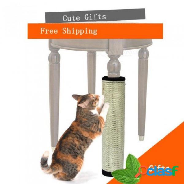 Gato arañando felpudo postnatural sisal juguete para gatos catnip torre trepando árbol gato arañazo almohadilla de protección muebles de pie 40cmx30cm