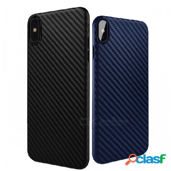 Hoco con estilo ultra delgado y delgado protector de nuevo caso cubierta de fibra de carbono cubierta de silicona suave para manzana iphone x tpu