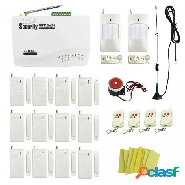 Inalámbrico gsm en casa de marcado automático / sistema de alarma de seguridad de garaje con puerta de 12 piezas. / detectores de ventanas