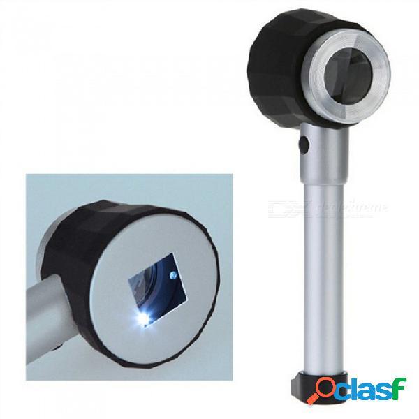 Lupa de vidrio óptico de mano ojade 10x led, lupa con luz, lupa de joyería con estuche de almacenamiento