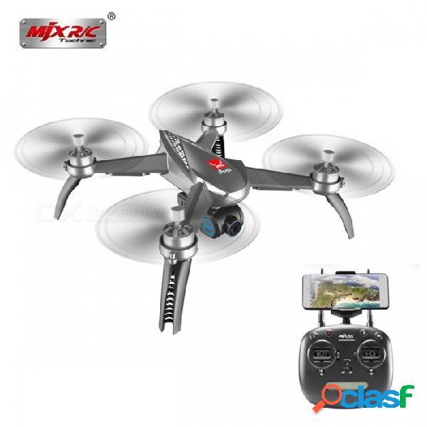 MJX B5W Bugs 5W Wifi FPV RC Quadcopter Drone Con Cámara 1080P + Motores Sin Escobillas GPS Siguen ME RTF Gris
