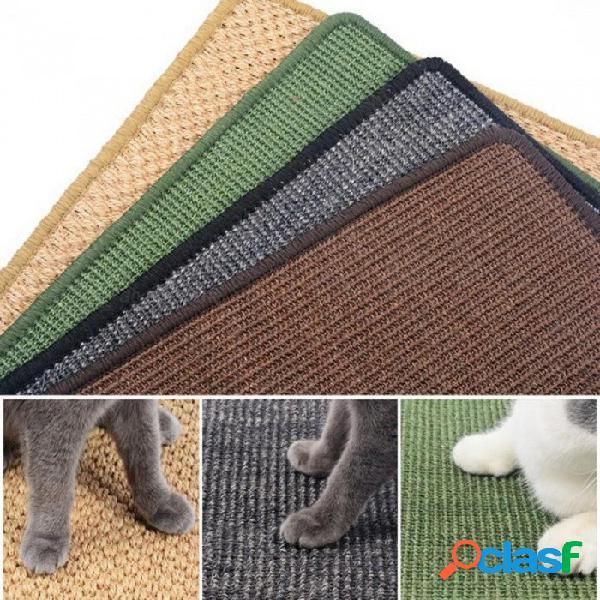 Tumbona natural del tablero del rasguño del gato del sisal que rasguña la estera del poste, cojín de colchón de enfriamiento para el color al azar del gatito