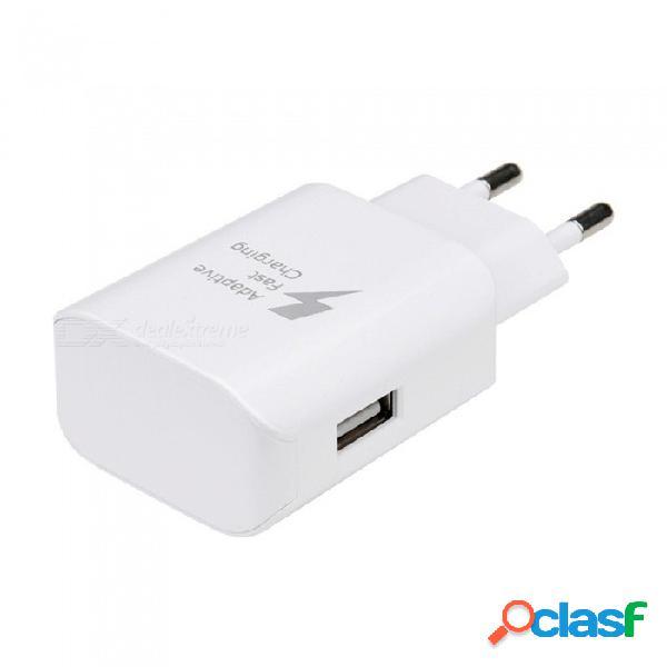 Usb 5v / adaptador de corriente de carga rápida de la pared del viaje 9v para el teléfono móvil de samsung - blanco (eu plug)