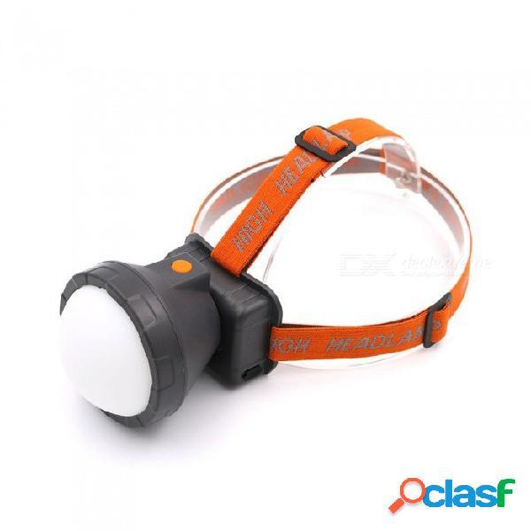 Usb recargable faros led portátiles luz fuerte resistente al agua iluminación de larga distancia blanco / naranja
