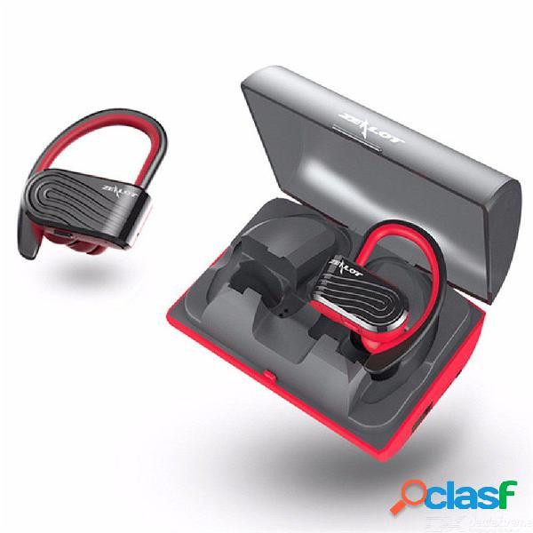 Zealot h10 impermeable tws auriculares estéreo inalámbricos bluetooth auriculares deportivos con micrófono