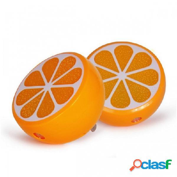 Zinuo naranja con forma inteligente led luz de noche sensor de luz ac 90 ~ 240v lámpara de noche luz de noche para niños bebé niños naranja